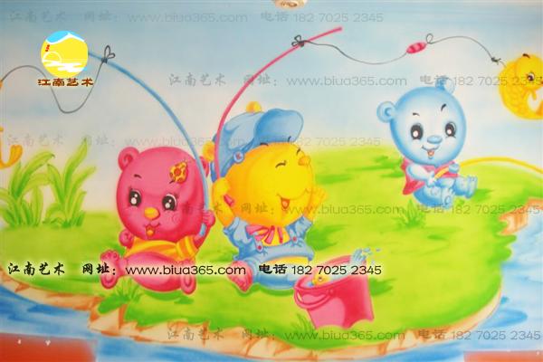 幼儿园教室墙面卡通画 墙面喷绘壁画图片