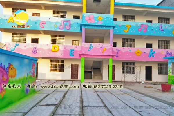 幼儿园围墙壁画,幼儿园门卫室墙壁画